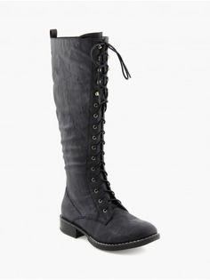 a5e599d6f7968 shoes · BOTTES - Bottes femme - La Halle Bottes Noires À Lacets, Bottes  Talons, Bottes