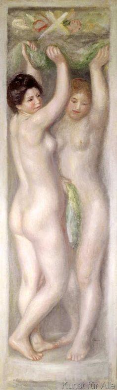 Pierre Auguste Renoir - Caryatids (33,0 x 109,0 cm)