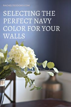 Selecting the Perfect Dark Navy Paint Color for Your Walls using Sherwin Williams Naval paint Navy Paint Colors, Paint Color Palettes, Navy Color, Dollar Store Hacks, Dollar Store Crafts, Perfect Dark, Painting Tips, Diy Craft Projects, Dark Navy