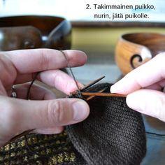 Silmukoimalla päätteleminen - kaksi tapaa - Neulovilla Blog, Diy Ideas, Blogging, Craft Ideas