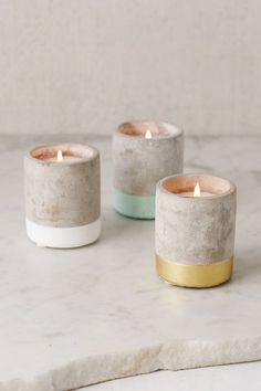 Paddywax Small Concrete Candle
