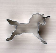 Unicorn Cookie Cutter. $2.50, via Etsy
