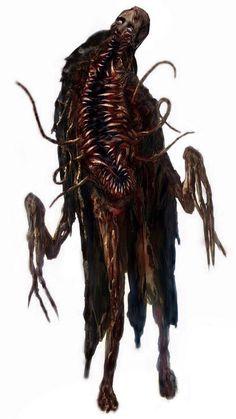 Monster Concept Art, Fantasy Monster, Monster Art, Dark Creatures, Fantasy Creatures, Mythical Creatures, Horror Monsters, Cool Monsters, Creature Concept Art