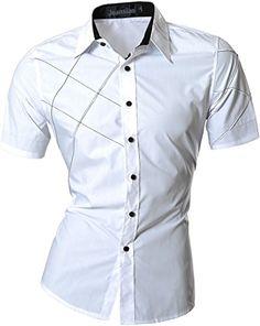 jeansian Men's Slim Fit Short Sleeves Casual Shirts Z003 ... http://www.amazon.com/dp/B00YOE6PT8/ref=cm_sw_r_pi_dp_Ub9hxb0GQ6AW7