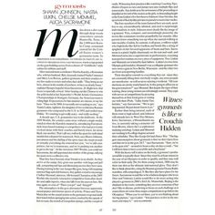vogue article magazine layout text background ❤ liked on Polyvore