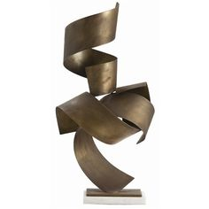 Henley brass and marble sculpture by Arteriors. *Arteriors collaborates with expert artisans and manufacturers from around the world. Decorative Accessories, Home Accessories, Decorative Items, Contemporary Decorative Objects, Contemporary Sculpture, Contemporary Style, Sculptures For Sale, Sculpture Ideas, Art Sculptures