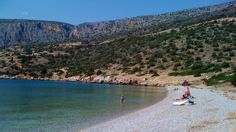 A nearby beach, Galaxidi, Greece Detached House, Property For Sale, Grand Canyon, Greece, River, Beach, Places, Outdoor, Greece Country