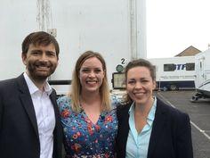 PHOTOS: David Tennant & Olivia Colman Interviewed On The Set Of Broadchurch
