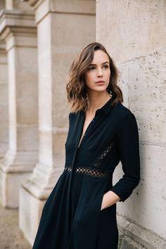 robe noire dentelle Dresses With Sleeves, Long Sleeve, Collection, Fashion, Moda, Sleeve Dresses, Long Dress Patterns, Fashion Styles, Gowns With Sleeves