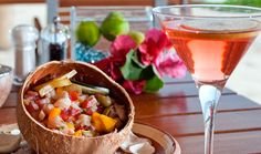 Fresh ceviche and a signature cocktail at #IMANTAMexico
