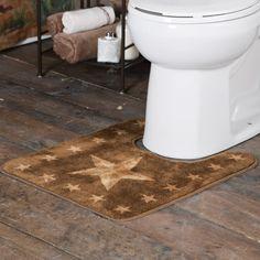 Brown Star Toilet Rug