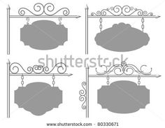 The set from a four frame - stock vector