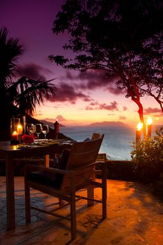 sunset; nature; dining; candles; purple; pink; beach; beaches; balcony; landscape; garden; beautiful; beauty; romance; romantic; lovers; couples; art; photography; candlelit