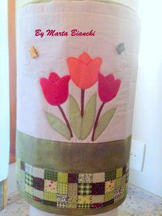 Capa para bombona de água em patchwork