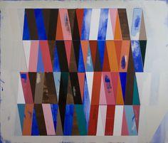 RECONFIGURED GRID PAINTING NO.30 acrylic on canvas / 43x50 / 2012 -  JEFF DEPNER