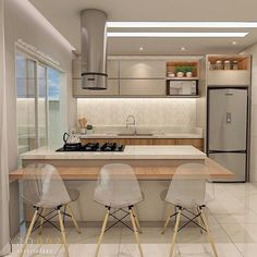 Kitchen Room Design, Home Room Design, Kitchen Cabinet Design, Modern Kitchen Design, Living Room Kitchen, Home Decor Kitchen, Interior Design Kitchen, Kitchen Furniture, Home Kitchens