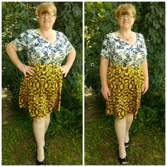 BOTANICAL MIXED PRINT CHELSEA DRESS #ShareMeGB #GwynnieBee