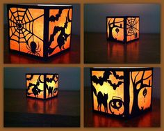The Lady Wolf: Four Sided Halloween Lantern SVG