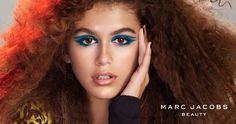 Introducing Kaia Gerber for Marc Jacobs Beauty wearing the new Highliner Matte Gel Eye Crayon in Whirl(pool). Campaign by David Sims, Katie Grand, Diane Kendal and Guido Palau. #MJBxKAIA #entry