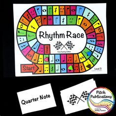 Music Centers: Rhythm Race Note Naming Edition Level 7 - R Singing Games, Rhythm Games, Music Games, Middle School Music, Teaching Music, Teaching Resources, Teaching Ideas, Music Activities, Elementary Music