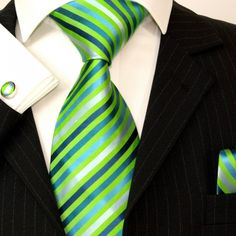 Paul Malone Silk Tie Set - Green