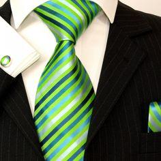 Paul Malone Silk Tie Set - Green