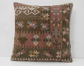 20x20 handmade cushion DECOLIC antique pillow cover decorative throw pillow ethnic pillow antique cushion cover 13636 kilim pillows 50x50