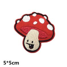 funny mushroom cute Embroidery iron on sew on patch