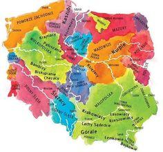 Poland Map, Poland Travel, Krakow Poland, Educational Activities, Math Activities, Learn Polish, Polish Language, Polish Folk Art, Old World Maps