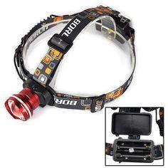 Brightest LED Head Torch Waterproof 2000 Lumen CREE XM-L T6 Headlamp 2x18650