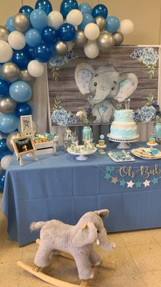 """> Head over to our boards to find a handful of awesome pins if . - Pásate por nuestros tableros para encontrar un puñado de pines asombrosos si…""""> > Head over to our boards to find a handful of awesome pins similar to this one. Elephant Baby Shower Centerpieces, Elephant Baby Shower Cake, Baby Shower Decorations For Boys, Boy Baby Shower Themes, Baby Shower Balloons, Baby Shower Cakes For Boys, Parties Decorations, Parties Food, Elephant Theme"""