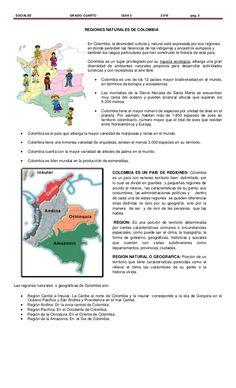 Regiones naturales de Colombia 3° Homeschooling, Pastel, Plants, Diy, Socialism, Maps, Gran Colombia, Colombia Map, Bible Activities
