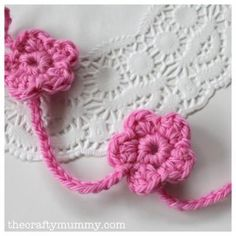 DIY Crochet Flowers: Crochet Flower Garland Tutorial