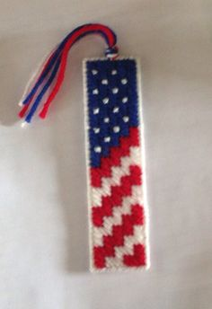 Items similar to PATTERN: Red, White and Blue American Flag Bookmark Pattern, Patriotic Bookmark Plastic Canvas Pattern on Etsy Plastic Canvas Christmas, Plastic Canvas Crafts, Plastic Canvas Patterns, Yarn Crafts, Sewing Crafts, Cross Stitch Bookmarks, Patriotic Crafts, Canvas Designs, American Flag