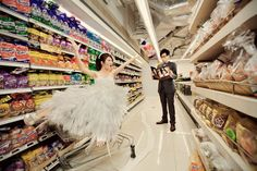 A Supermarket Engagement Shoot: Shing & Lynnette