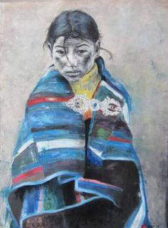 "Saatchi Art Artist mi luz; Painting, ""Lily (the unspoken question of Pema)"" #art"