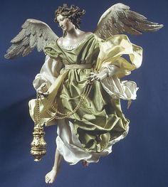 Neapolitan Baroque Angel  Salvatore Di Franco, 18th c.  16 3/4''h. MMA|NYC