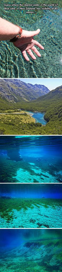 Blue Lake in New Zealand is the clearest water in the world