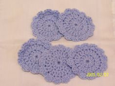 Crochet Baby Scrubbies  Light Blue by kayandgirlscrafts on Etsy, $3.00