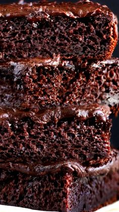 Chocolate Cake With Chocolate Buttercream Frosting ~ HEAVEN. Chocolate Heaven... Moist, delicious & intense chocolaty Chocolate Cake with velvety smooth chocolate buttercream frosting.