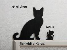 """Deko-Objekte - Katze für den Türrahmen """"Gretchen mit Maus"""" - ein Designerstück von Schmidts-Katze bei DaWanda"""