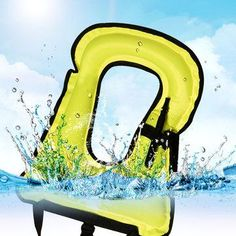NewChic - NewChic Inflatable Lifejacket Portable Safe Snorkeling Swimming Vest Mouth Blowing Buoyancy - AdoreWe.com