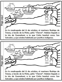libro-interactivo-descubrimiento-de-america-cristobal-colon-6 Middle School Spanish, Christopher Columbus, Columbus Day, Country Crafts, Back In Time, Puerto Rico, Sheet Music, Homeschool, The Past