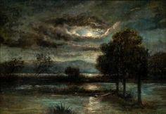 Arkhip Ivanovich Kuindzhi - Landscape In Moonlight