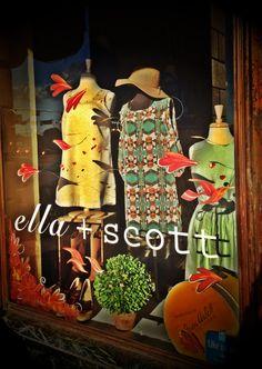 Fall window display