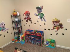 My sons paw patrol bedroom!