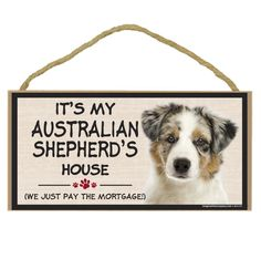 Imagine This Wood Breed Decorative Mortgage Sign, Australian Shepherd ** Check this awesome image  : Dog Memorials