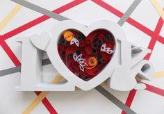 anniversary gift for her love heart girl by WonderCraftShop