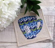 Tea Cup Coaster - Retro Print Fabric Coaster - Mat for Mugs £7.50