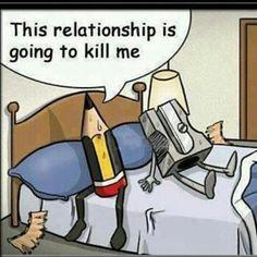 """"""" Cette relation va me tuer..."""" ou Risque de Mauvaise Mine..."""